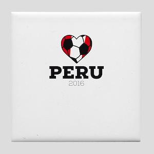Peru Soccer Shirt 2016 Tile Coaster