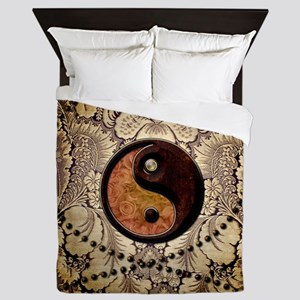 The sign ying and yang Queen Duvet