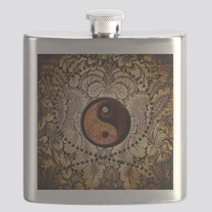 The sign ying and yang Flask