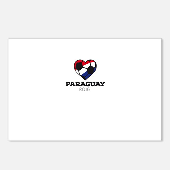 Paraguay Soccer Shirt 201 Postcards (Package of 8)
