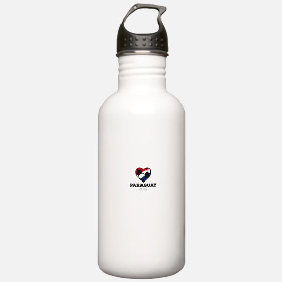 Paraguay Soccer Shirt Water Bottle
