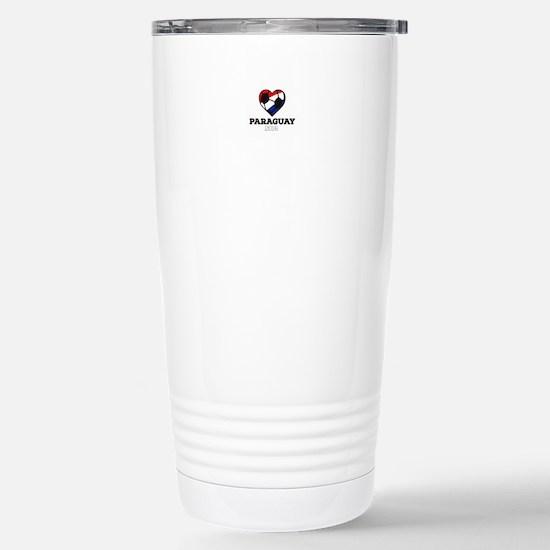Paraguay Soccer Shirt 2 Stainless Steel Travel Mug