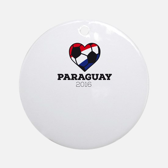 Paraguay Soccer Shirt 2016 Round Ornament