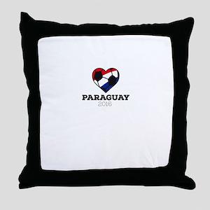 Paraguay Soccer Shirt 2016 Throw Pillow