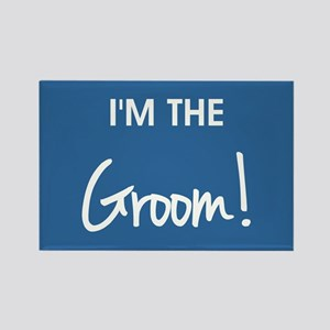 I'M THE GROOM! Rectangle Magnet