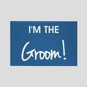 I'M THE GROOM! Rectangle Magnet
