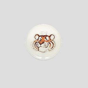 Tiger Smile Mini Button