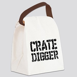 Crate Digger Canvas Lunch Bag