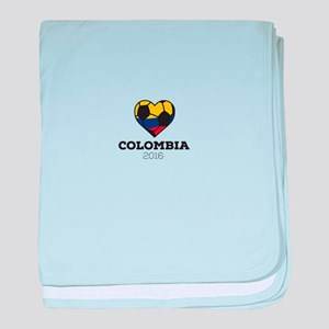 Colombia Soccer Shirt 2016 baby blanket
