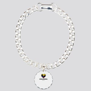 Colombia Soccer Shirt 20 Charm Bracelet, One Charm