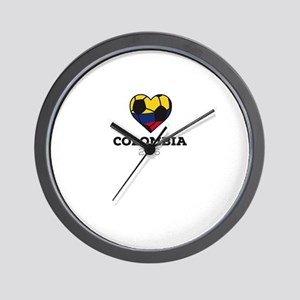 Colombia Soccer Shirt 2016 Wall Clock