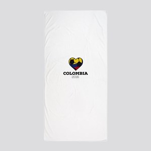 Colombia Soccer Shirt 2016 Beach Towel