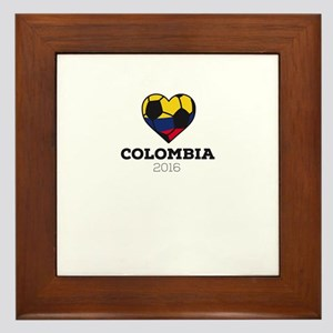 Colombia Soccer Shirt 2016 Framed Tile