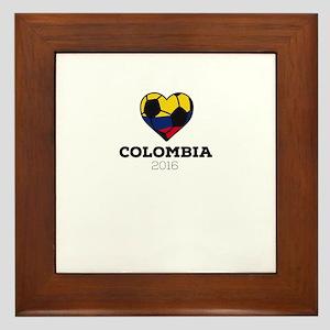 Colombia Soccer Shirt 2016 Framed Tile