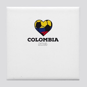 Colombia Soccer Shirt 2016 Tile Coaster
