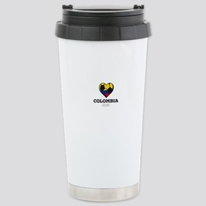 Colombia Soccer Shirt 2 Stainless Steel Travel Mug