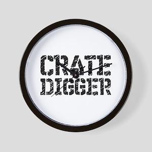 Crate Digger Wall Clock