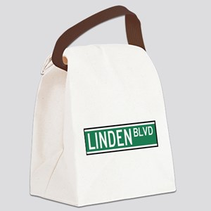 Linden Boulevard Sign Canvas Lunch Bag