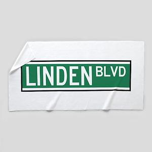Linden Boulevard Sign Beach Towel