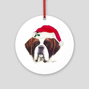 St. Bernard Christmas Ornament (Round)