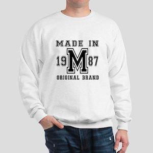 Made In 1987 Original Brand Birthday De Sweatshirt
