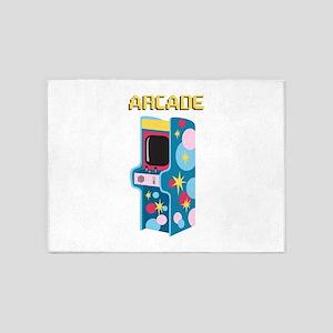 Arcade Games 5'x7'Area Rug