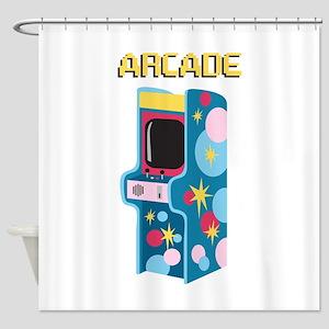 Arcade Games Shower Curtain