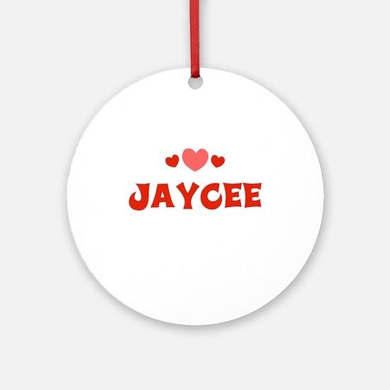 Jaycee Ornament (Round)