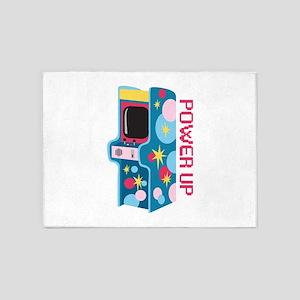 Arcade Power Up 5'x7'Area Rug