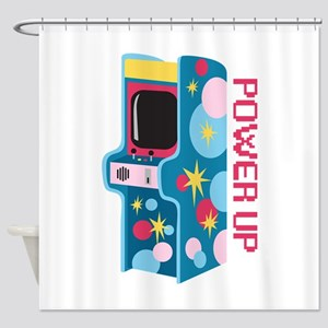 Arcade Power Up Shower Curtain