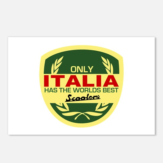 Italia Scooter Postcards (Package of 8)