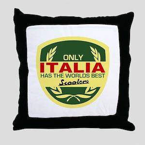 Italia Scooter Throw Pillow
