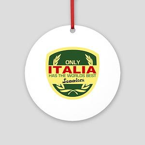 Italia Scooter Ornament (Round)