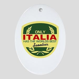 Italia Scooter Oval Ornament