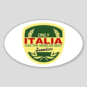 Italia Scooter Oval Sticker