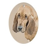 Bloodhound Oval Ornament