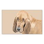 Bloodhound Sticker (Rectangle 10 pk)