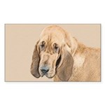 Bloodhound Sticker (Rectangle 50 pk)