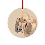 Bloodhound Round Ornament