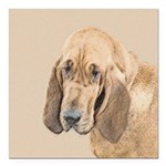 Bloodhound Square Car Magnet 3