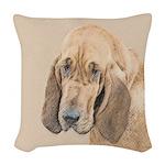 Bloodhound Woven Throw Pillow