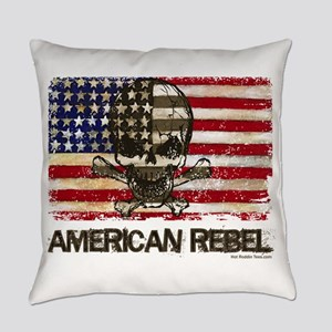 Flag-Painted-American Rebel-3 Everyday Pillow