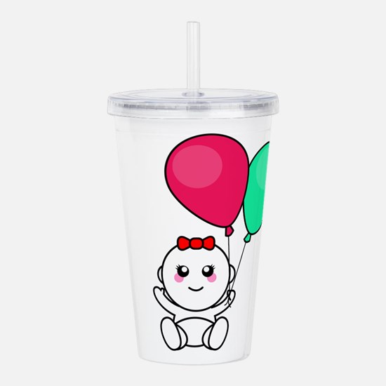 Baby hold balloons Acrylic Double-wall Tumbler