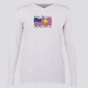 God bless america-1 Plus Size Long Sleeve Tee