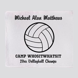Custom Volleyball Player Name | Team Throw Blanket