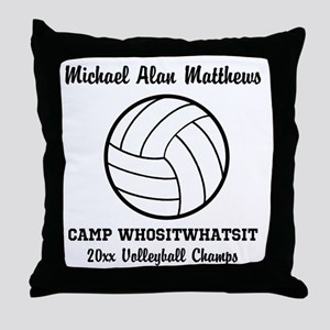 Custom Volleyball Player Name | Team Throw Pillow
