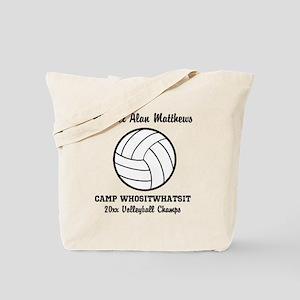 Custom Volleyball Player Name   Team   Ye Tote Bag