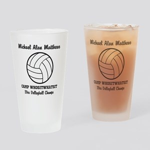 Custom Volleyball Player Name   Tea Drinking Glass