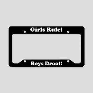 Girls Rule Boys Drool License Plate Holder