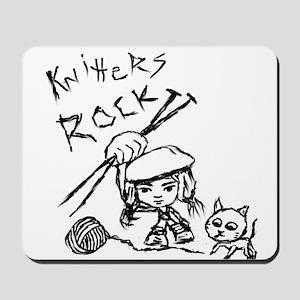 Knitters Rock! Mousepad